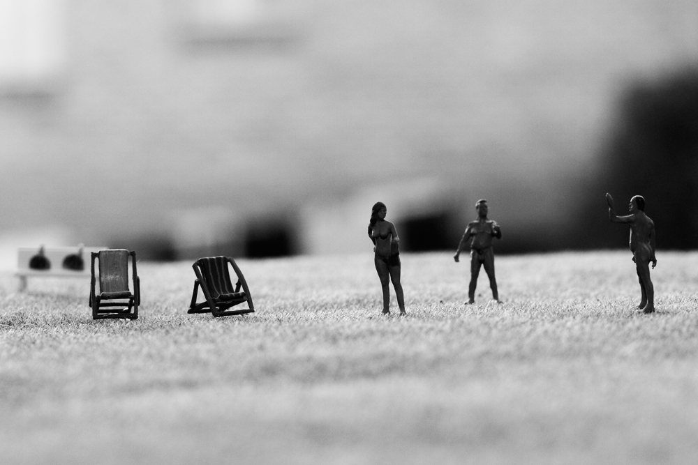 Miniature Photography - Black and White Nudes