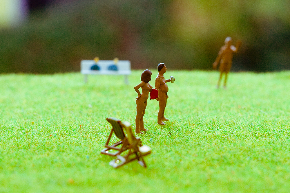 Miniature photography - nude couple