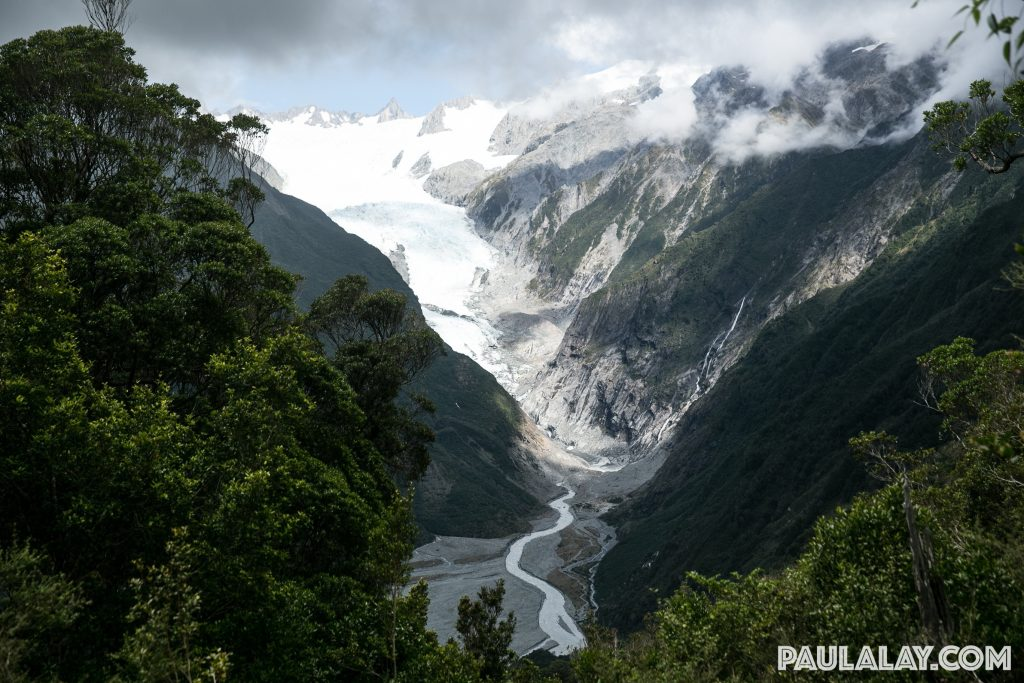 View of Franz Josef Glacier from Christmas Lookout