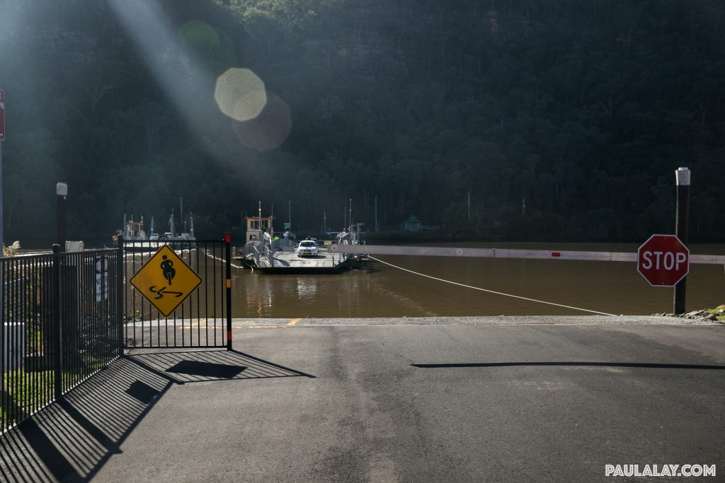 The ferry crossing at Wisemans Ferry
