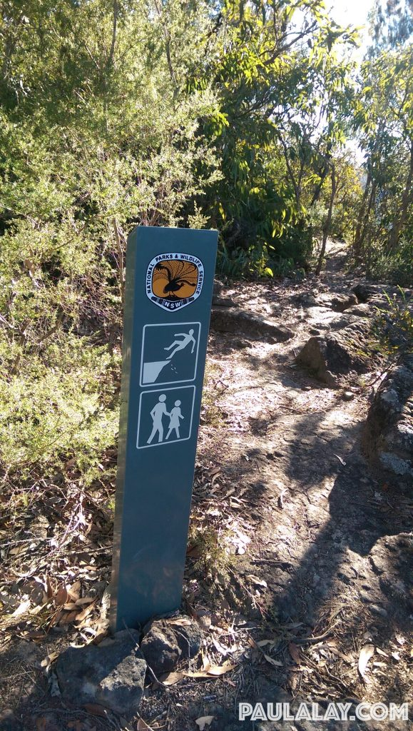Signage on the trail